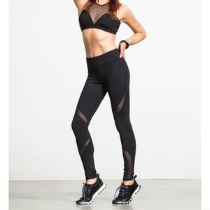 MICHI carbon38 Black Suprastelle workout leggings